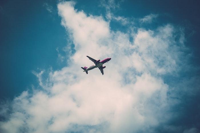 Aeroplane in the sky jetting off overseas